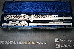 Flauta Transversal Vogga VSFL701 Niquelada Completo