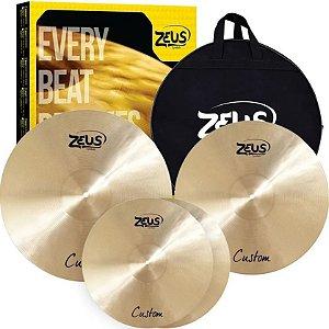 Kit de Pratos Zeus Custom Set C 14/16/20