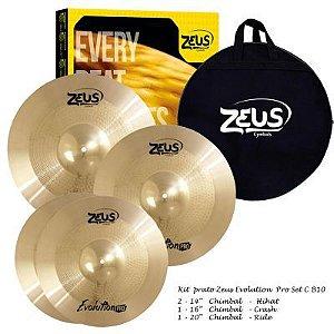 Kit de Pratos Zeus Evolution Set C 14/16/20 B10