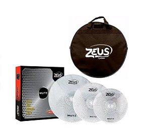 Kit de Pratos Zeus Mute Set C 14/16/20