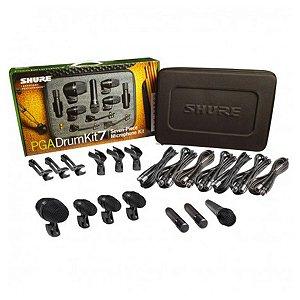 Kit de Microfone Shure PGA DRUM KIT 7 p/ Bateria