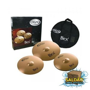 "Kit de Pratos Orion Bex BX90 14"" + 16"" + 20"" (DR) Bag"