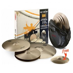 "Kit de Pratos Stagg DH Set  B 14"" 16"" 20"" + 10""  Com Bag"