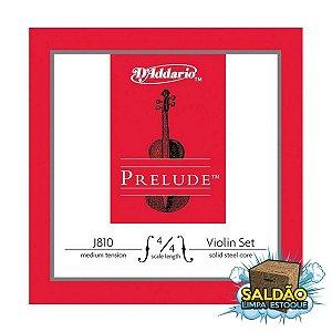 Encordoamento Daddario Violino 3/4 J810 3/4M Prelude
