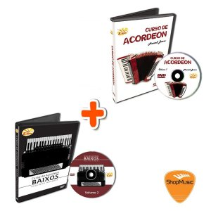 Video Aula EDON Curso de Acordeon Baixos VOL  1 + VOL 2