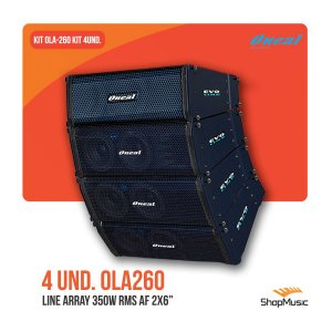 Kit Line Array Oneal Ola260 4 Unid.