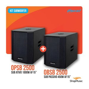 Kit Sub Oneal Obsb2500 Ativo + Opsb2500 Passivo