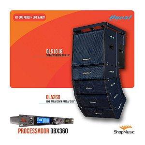 Kit Oneal Sub/line/bumper Pt + Processador Dbx Venu360
