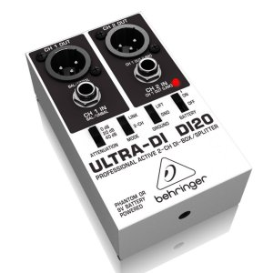 Direct Box Behringer ULTRA-DI DI20 2 Canais Ativo