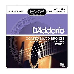 Encordoamento Daddario Violao Aço EXP13 011 Bronze 80/20