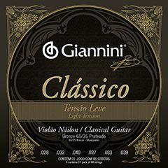 Encordoamento Giannini Classico para Violao Nylon Tensão Leve GENWPL