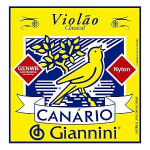 Encordoamento Giannini Canario GENWB para Violao Nylon c/ Bolinha