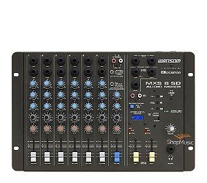 Mesa de Som Ciclotron MXS 08 SD 08 Canais P10