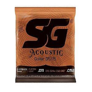 Encordoamento SG Violao Aço 011 SG6686 Bronze 85/15