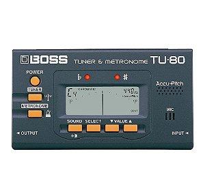 Afinador e Metronomo Boss TU-80