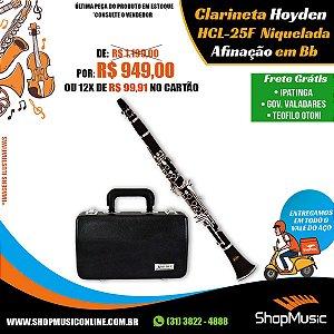 Clarineta Hoyden HCL 25B ABS Brilhante 17 Chaves
