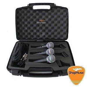Kit de Microfone BRM K2 Plus c/ 3 Microfones