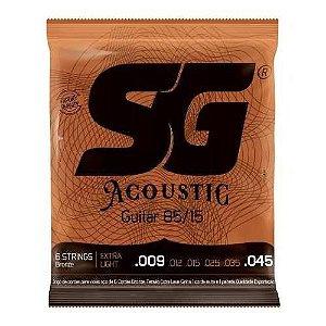 Encordoamento SG Violao Aço 009 SG6684 Bronze 85/15