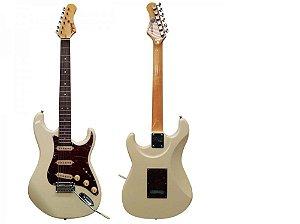 Guitarra Tagima T-635 WV E/TT Branca Vint Escudo Shell