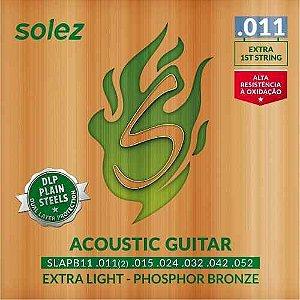 Encordoamento Solez Violao Aco SLAPB11 DLP 011 Fosforo Bronze