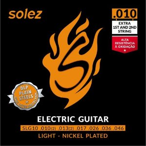 Encordoamento Solez Guitarra SLG10 DLP 010 Nickel Plated