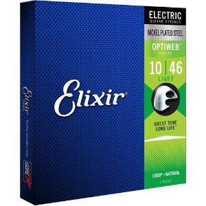Encordoamento Elixir Guitarra Optiweb 010-046 Light