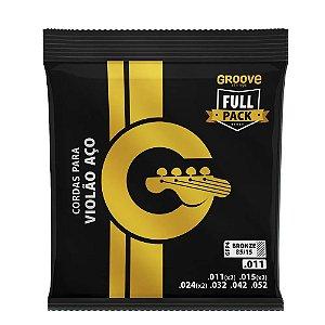 Encordoamento Groove Violao Aço FullPack 011/GFP4