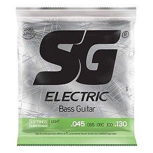 Encordoamento SG Baixo 045 SG5270 5 Cordas Niquel