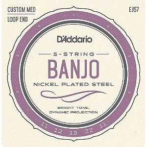 Encordoamento Daddario Banjo EJ57 5C Medium Custom