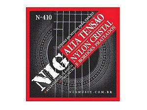 Encordoamento Nig Violao Nylon N-410 Prateado Alta Tensao