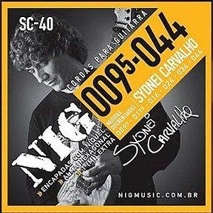 Encordoamento Nig Guitarra 009.5 SC40 Sydnei Carvalho