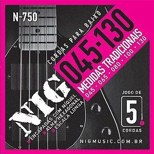 Encordoamento Nig Baixo N-750 5 Cordas 045/130