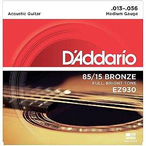 Encordoamento Daddario Violao Aço EZ930 013 Bronze 85/15