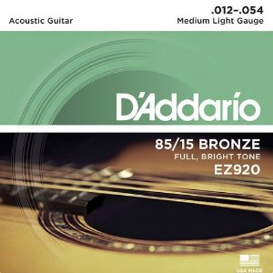 Encordoamento Daddario Violao Aço EZ920 012 Bronze 85/15