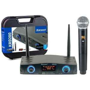 Microfone Karsect KRD-200SM s/ Fio Mao Simples
