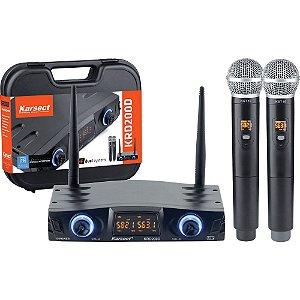 Microfone s/ Fio Karsect KRD-200DM Mao Duplo