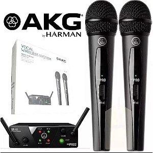 Microfone s/ Fio AKG WMS 40 Mini Dual Vocal Set US