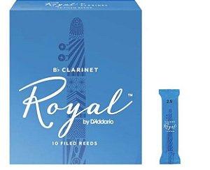 Palheta Rico Royal Clarineta 2.5 RCB1225 UNID
