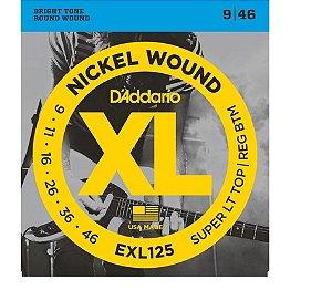Encordoamento Daddario Guitarra 009 Híbrido EXL125