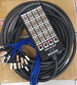 Multicabo 20 Vias 15m Pronto Com Medusa Com Plugs