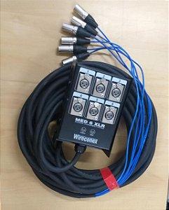 Multicabo 6 Vias 16 M Pronto Com Medusa Com Plugs