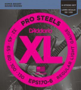 Encordoamento Daddario Baixo ProSteels EPS170-6 6 Cordas 032