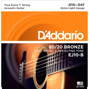 Encordoamento Daddario Violao EJ10 B+PL010 Bronze 80/20