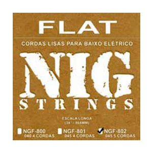 Encordoamento Nig Baixo Flat NBF-802 5 Cordas 045/128