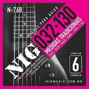 Encordoamento Nig Baixo N-760 6 Cordas 032/130