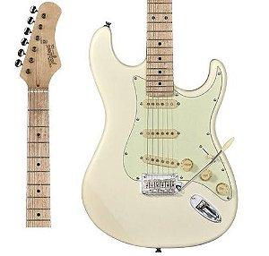 Guitarra Tagima T635 Classic Branca Vintage com Escudo Mint Green Strato