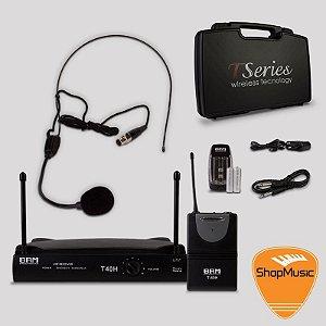 Kit De Microfone sem fio BRM T40H Headset