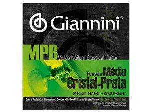 Encordoamento Giannini MPB GENWS Violao Nylon Crist/Prata