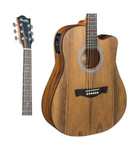 Violao Memphis MD-25 NTWS Folk Elet Natural Fosco