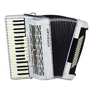 Acordeon Cadenza CD80/37 WH 80 Baixos Branco c/ Case